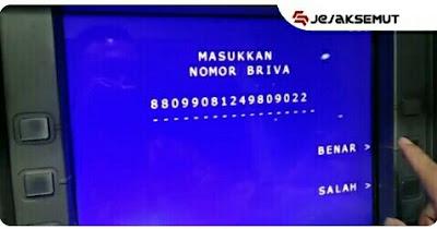 masukan kode BRIVA