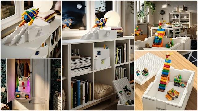 IKEA και LEGO μαζί στην νέα σειρά αποθήκευσης Bygglek