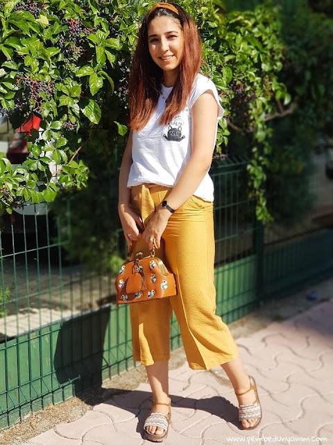hardal pantolon yazlık