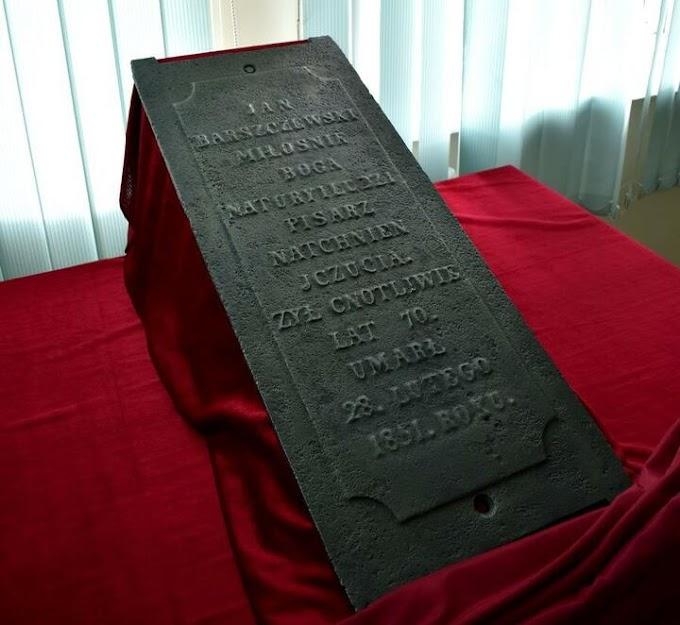 Плита с могилы. Неожиданная находка позволила уточнить биографию белорусского писателя Яна Барщевского