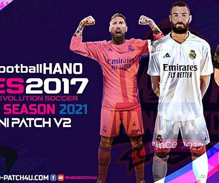 PES 2017 Hano Mini Patch + Update V2 Season 2020/2021