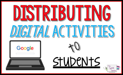 5 ways you can distribute Google digital activities to your students.