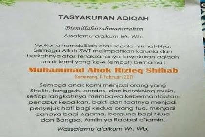 Nama Anak Dalam Kertas Aqiqoh Bikin Kaget, Orang Tua Ini Beri Nama Anaknya Muhammad Ahok Rizieq Shihab
