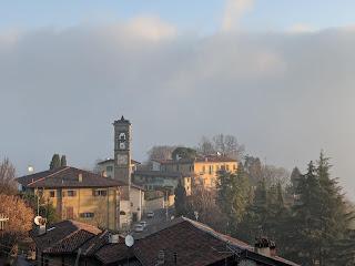 View north over Parrocchia di San Rocco in Castagneta.