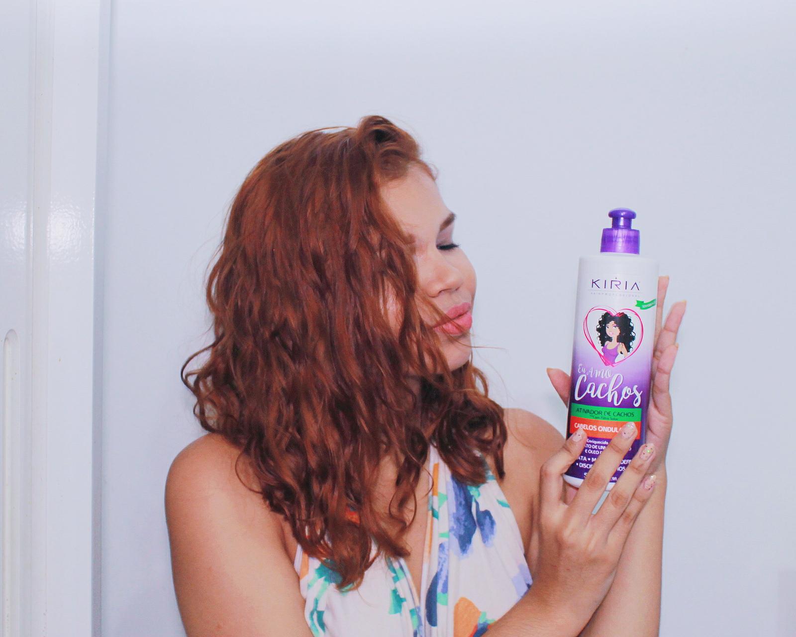 Resenha ativador de cachos para cabelo ondulado Kiria, produtos para cabelo ondulado, cabelo 2a, cabelo 2b, como cuidar, produtos para onduladas, cabelo ondulado, kiria hair