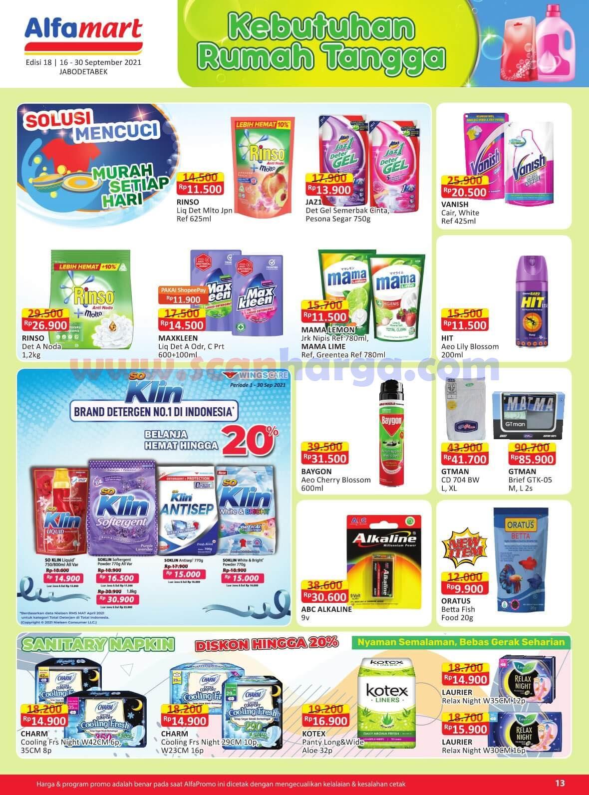 Katalog Promo Alfamart 16 - 30 September 2021 13