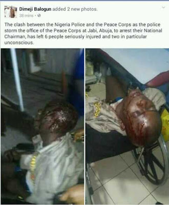 Photos of Victims of Clash Between Policemen and Peace Corps Members in Abuja