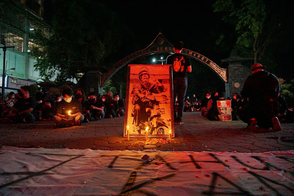 17 Tahun Kematian Munir, Mahasiswa Gelar Aksi Nyalakan Lilin