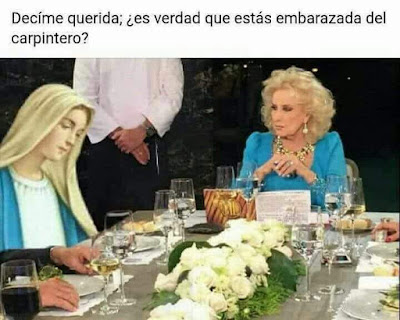 Mirta Legrand se entera que la Virgen María está embarazada