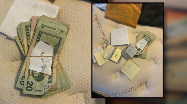 Niño se encuentra un sobre con miles de dólares mientras lavaba la camioneta de su padre