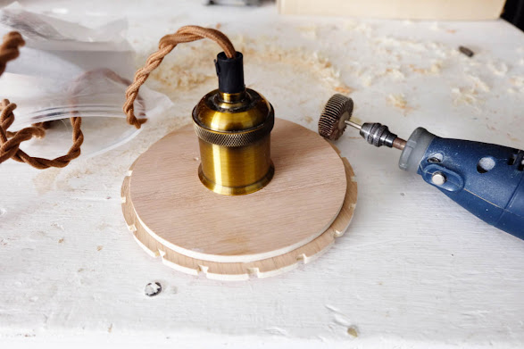 fitting pendant light fixture kit hole wood