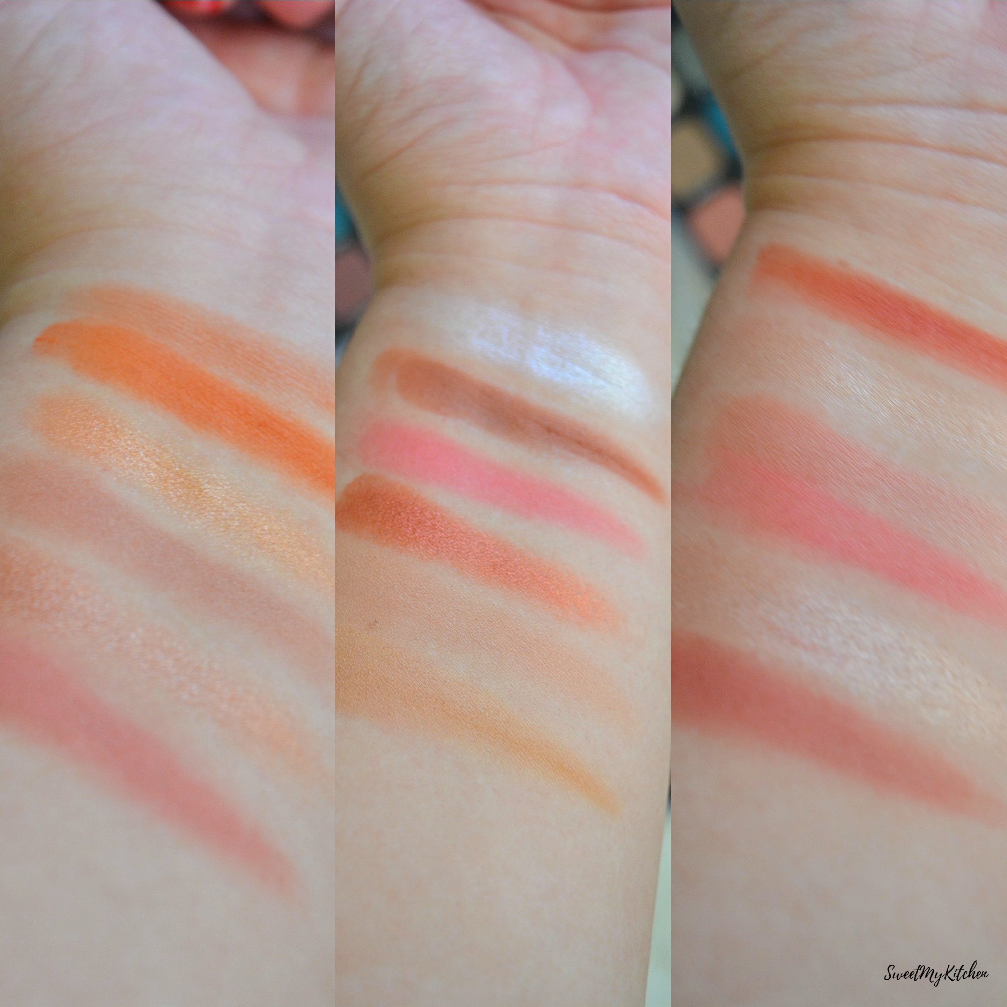 Makeup Revolution Forever Flawless Decadent swatches