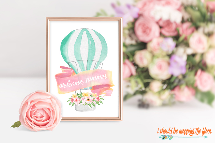 Watercolor Summer Printables