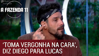 'Toma vergonha na cara', diz Diego para Lucas durante intervalo | A Fazenda 11