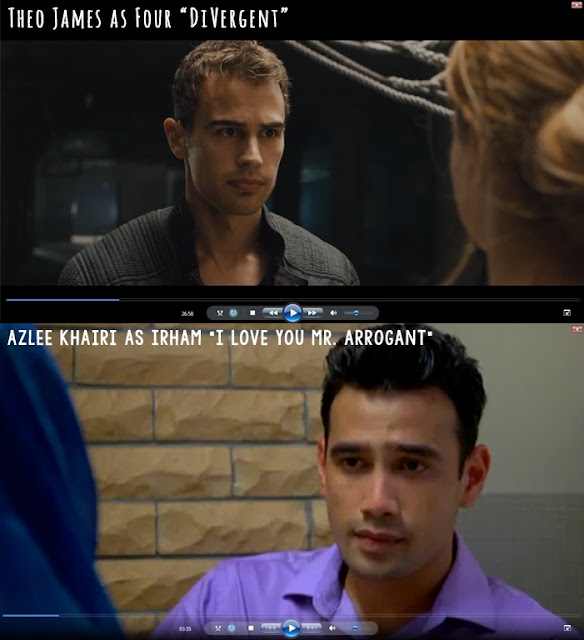 Theo James similiar with Azlee Khairi