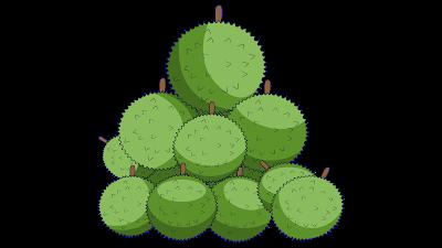 clipart gratis buah durian
