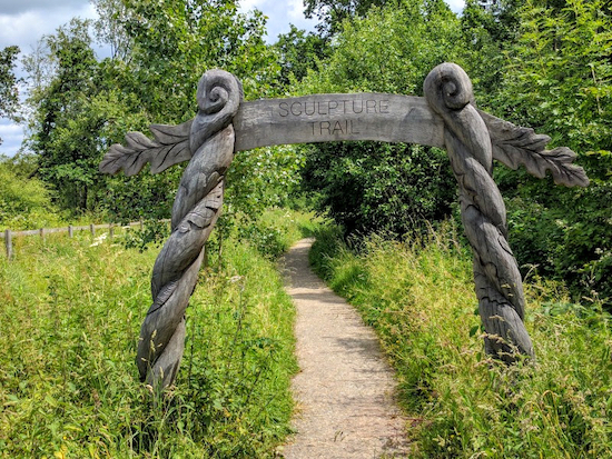 One of the two entrances to The Sculpture Trail