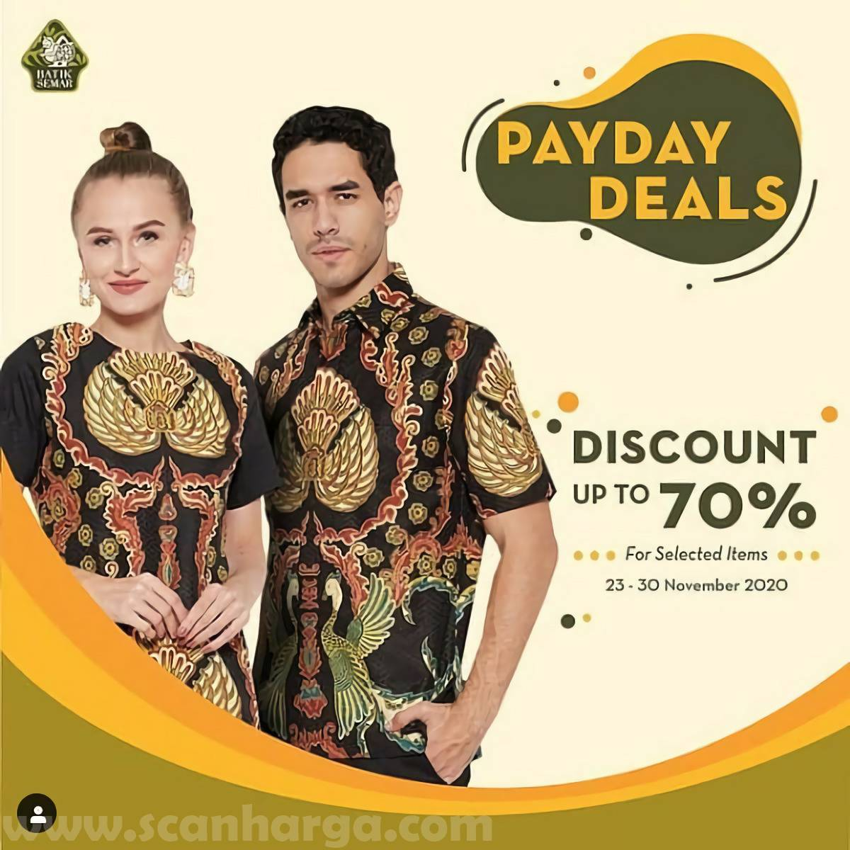 Batik Semar Promo Payday Deals Disc up to 70% for Selected Items