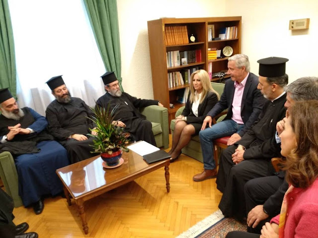 Φ. Γεννηματά και Γ. Μανιάτης συναντήθηκαν με αντιπροσωπεία του Ιερού Συνδέσμου Κληρικών Ελλάδος