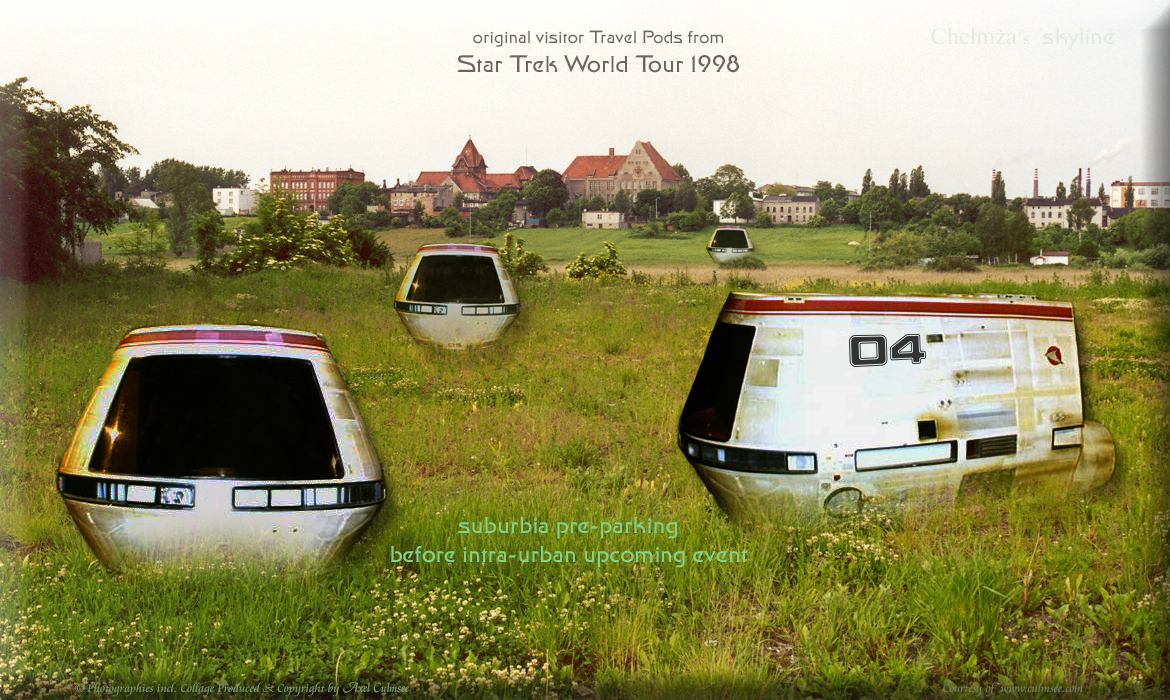 Travel Pods (timeline STWT 1998) suburbia pre-parking before intra-urban upcoming event in Chelmza