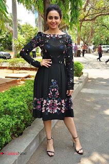 Actress Rakul Preet Singh Pictures in Short Dress at Sarrainodu Press Meet  0139.JPG