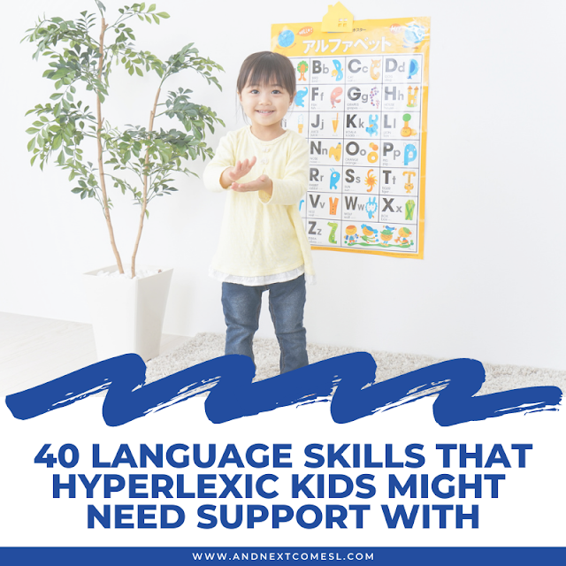 Language skills development in hyperlexia