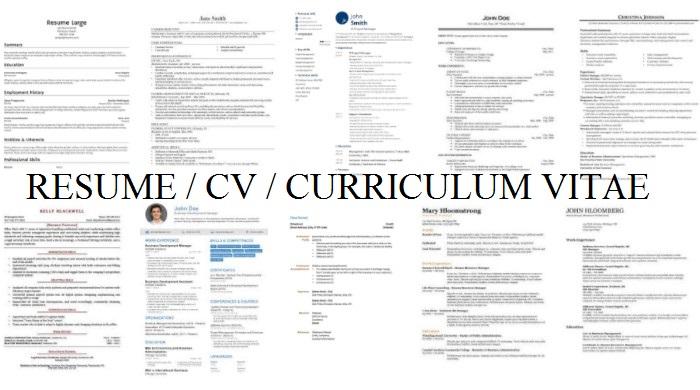 Cara Menulis CV Yang Benar