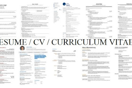 Ini Kesalahan Fatal Yang Kamu Lakukan Saat Menulis CV / Curriculum Vitae / Daftar Riwayat Hidup, Ayo baca agar terhindar dimasa akan datang