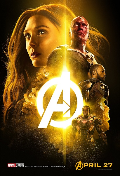 Avengers: Infinity War Scarlet Witch - Vision - Falcon - War Machine