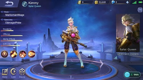 Hero Baru Mobile Legends Kimmy - Splat Queen Dengan Role Marksman/Mage