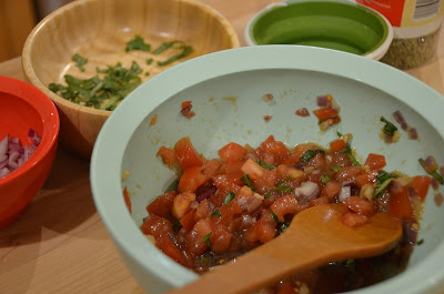 meatless monday bruschetta tomato mixture