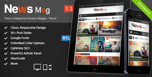 BloggersStand: News Mag V1.3 - Responsive Magazine Blogger Template