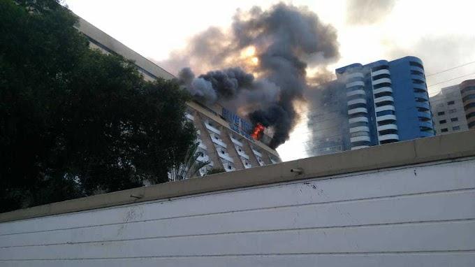 Incêndio no Rio Poty hotel: pintores trabalhavam na suíte que ia hospedar Roberto Carlos.