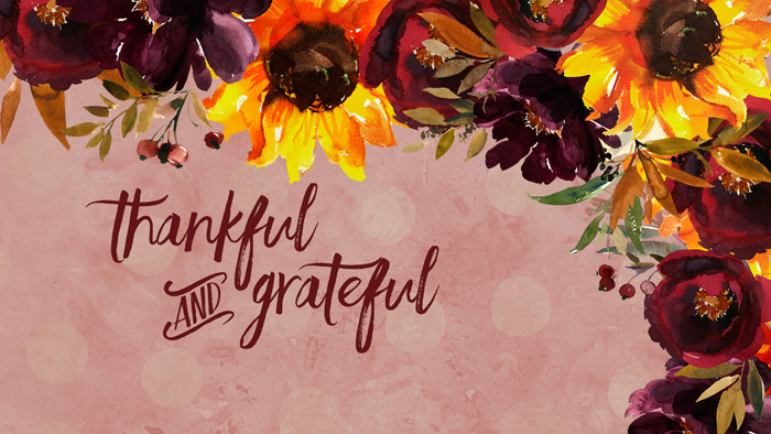 Free Thankful and Grateful Wallpaper