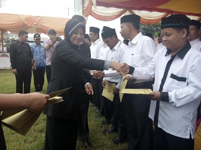 KIP Abdya Lantik 45 Anggota PPK dan 396 PPS