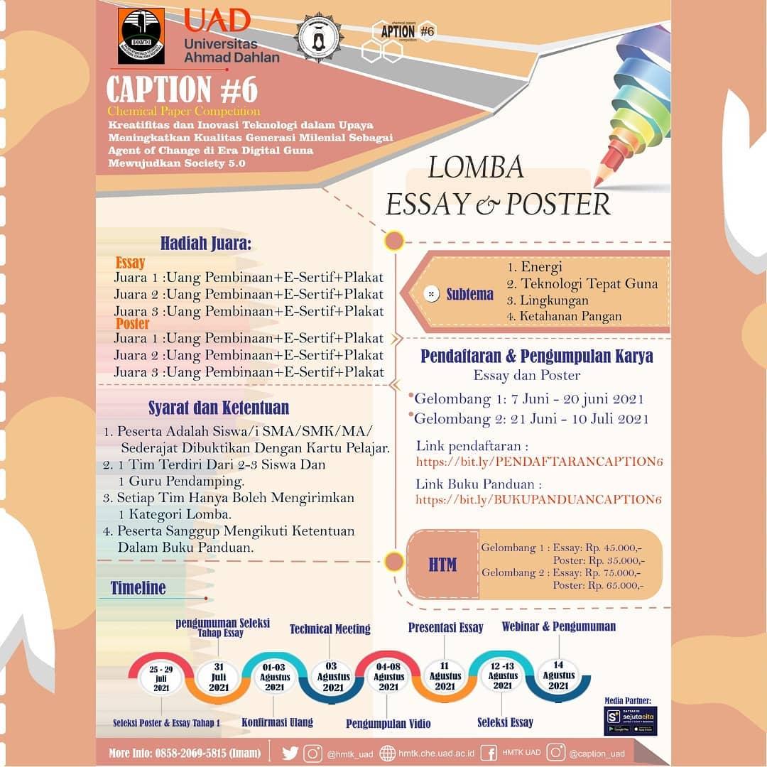 Lomba Esai dan Poster Bersama Universitas Ahmad Dahlan