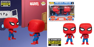 "Entertainment Earth Exclusive Spider-Man vs Spider-Man ""Double Identity"" Pop! 2 Pack by Funko"
