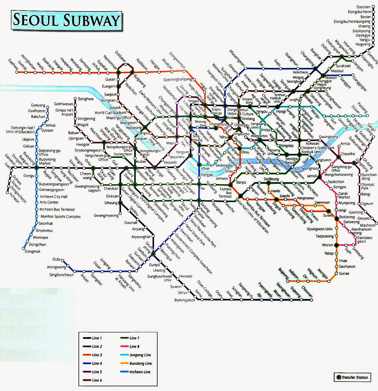 Hang Out With Me English Seoul Subway Route Map Seoul Subway