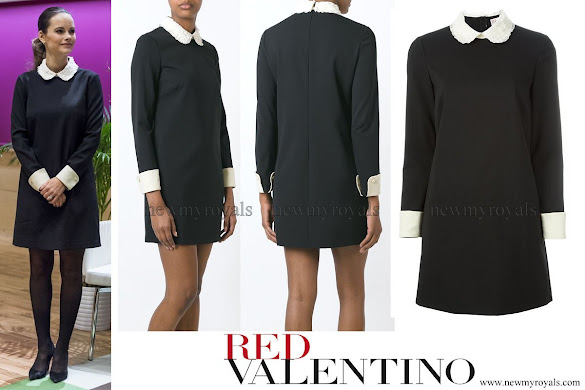 Princess Sofia wore Red Valentino Lace Collar Dress