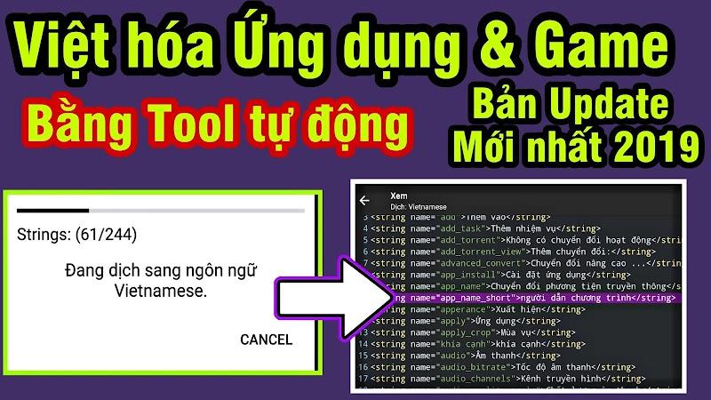 Hướng dẫn tự Việt Hóa Ứng dụng & game Android mà không cần biết lập trình - NO ROOT [MOD Android #1