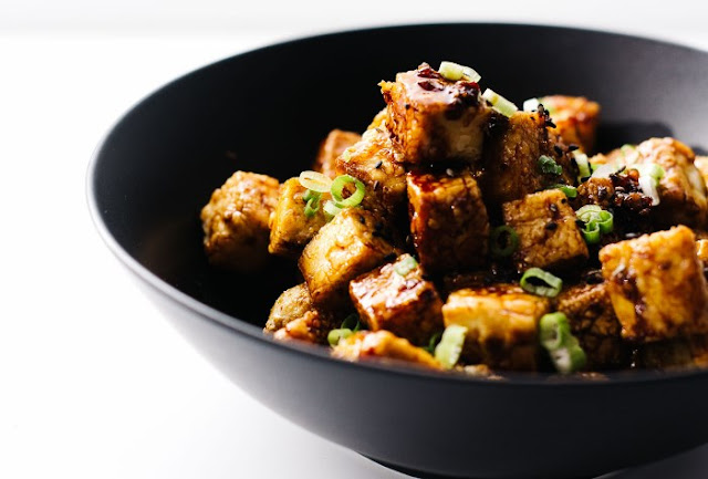 Asian Garlic Tofu #vegan #dinner