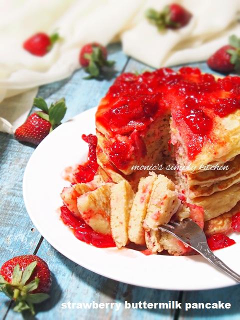 resep pancake stroberi mudah