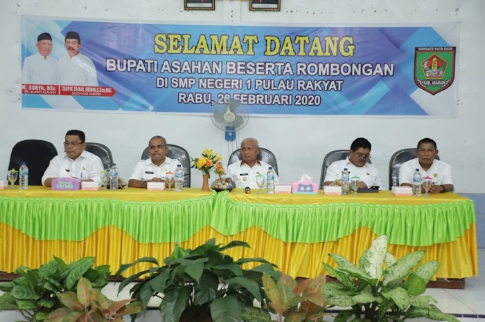 Bupati Asahan H. Surya BSc bersama rombongan gelar Silaturrahmi SMP Negeri 1 Pulau Rakyat Asahan