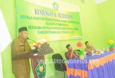 Sambutan Kepala Kemenag Kabupaten Maluku Tengah  Drs. H. Japri kabalmai