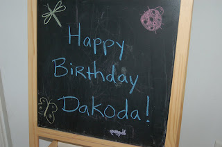 chalkboard happy birthday sign