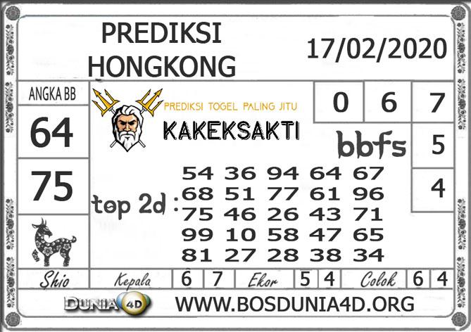 Prediksi Togel HONGKONG DUNIA4D 17 FEBRUARI 2020