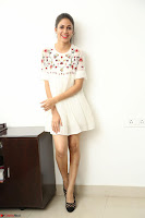 Lavanya Tripathi in Summer Style Spicy Short White Dress at her Interview  Exclusive 138.JPG