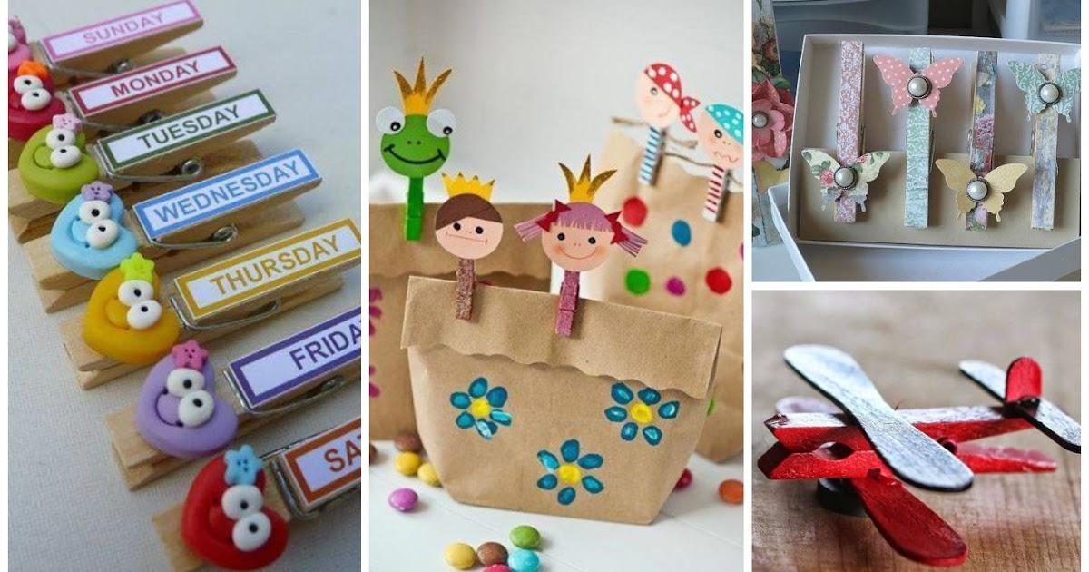 10 ideas para decorar pinzas de ropa de madera mimundomanual - Madera para manualidades ...