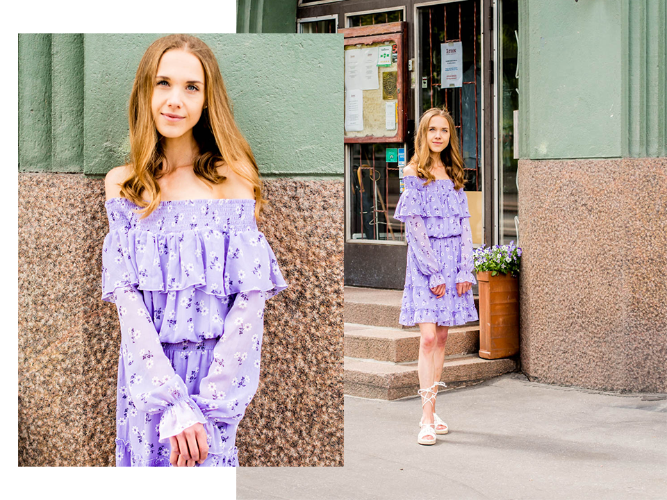 light-purple-floral-dress-bikbok-kesämekko