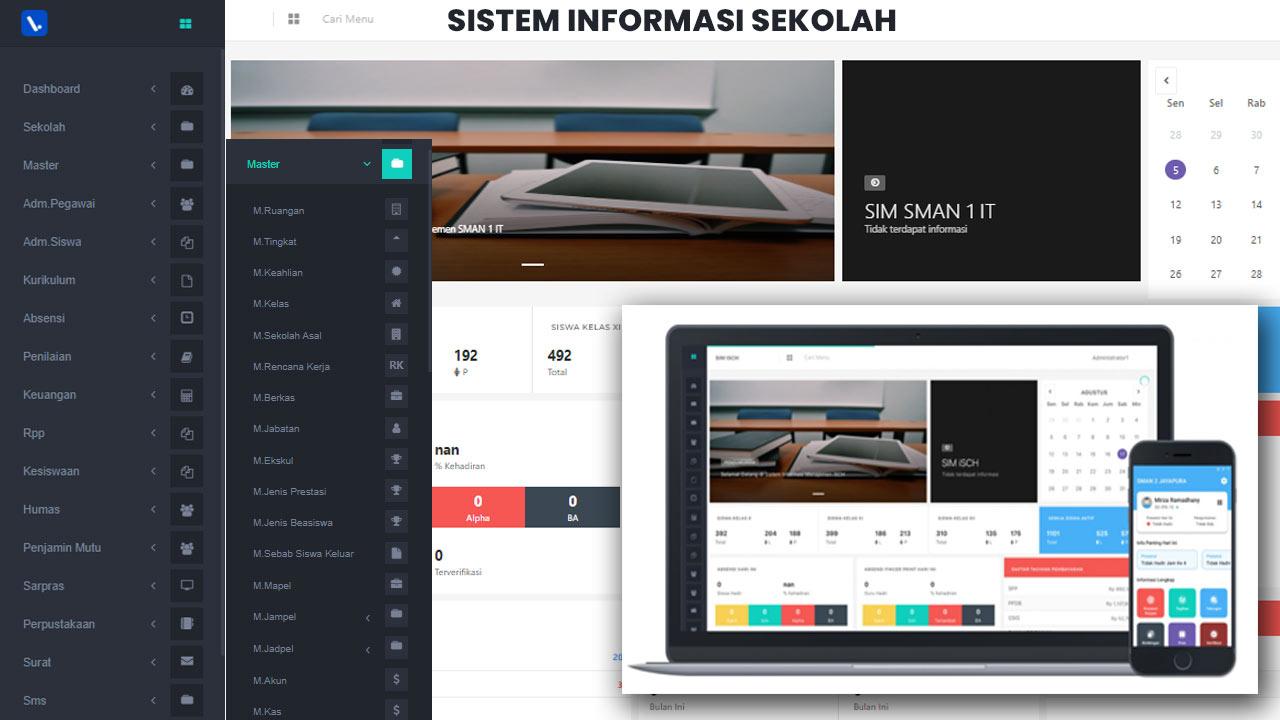 Aplikasi Sistem Informasi Sekolah Berbasis Web Online